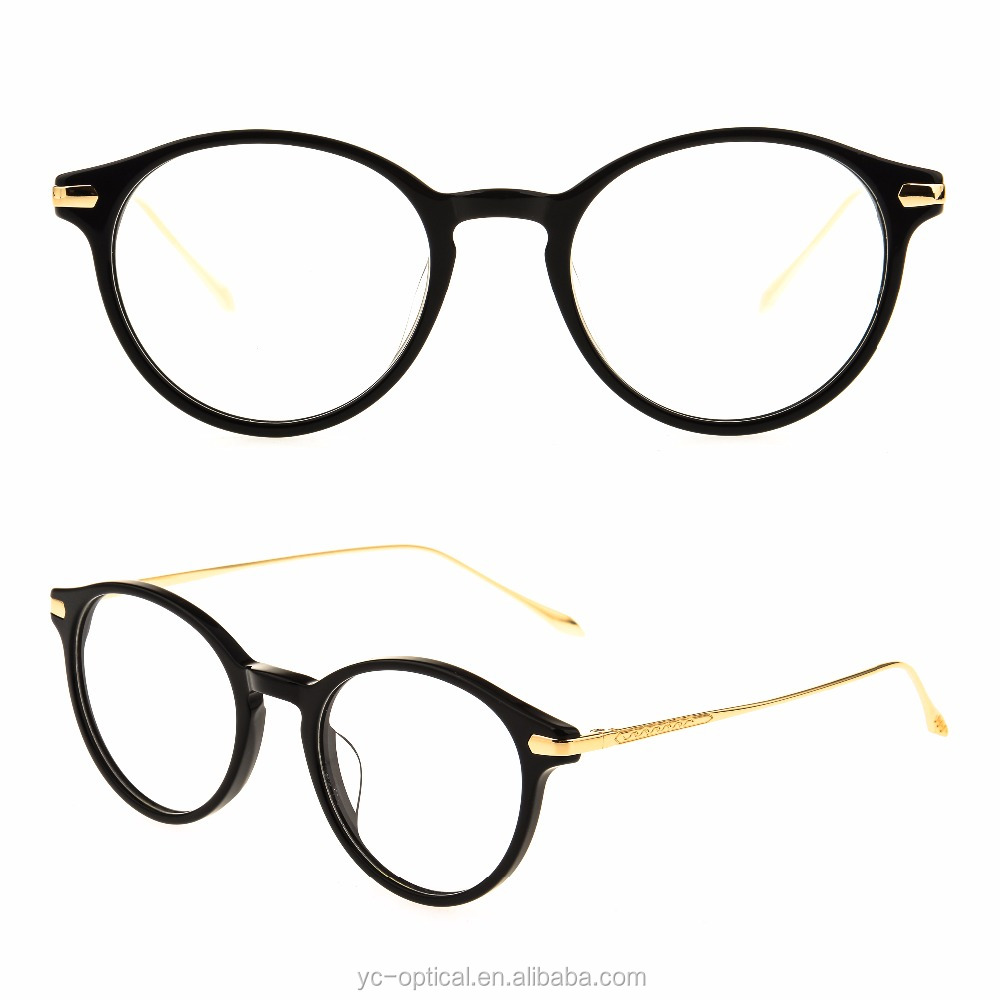 Professional factory acetate metal temple reading glasses frame new products 2017 OEM metal eyewear