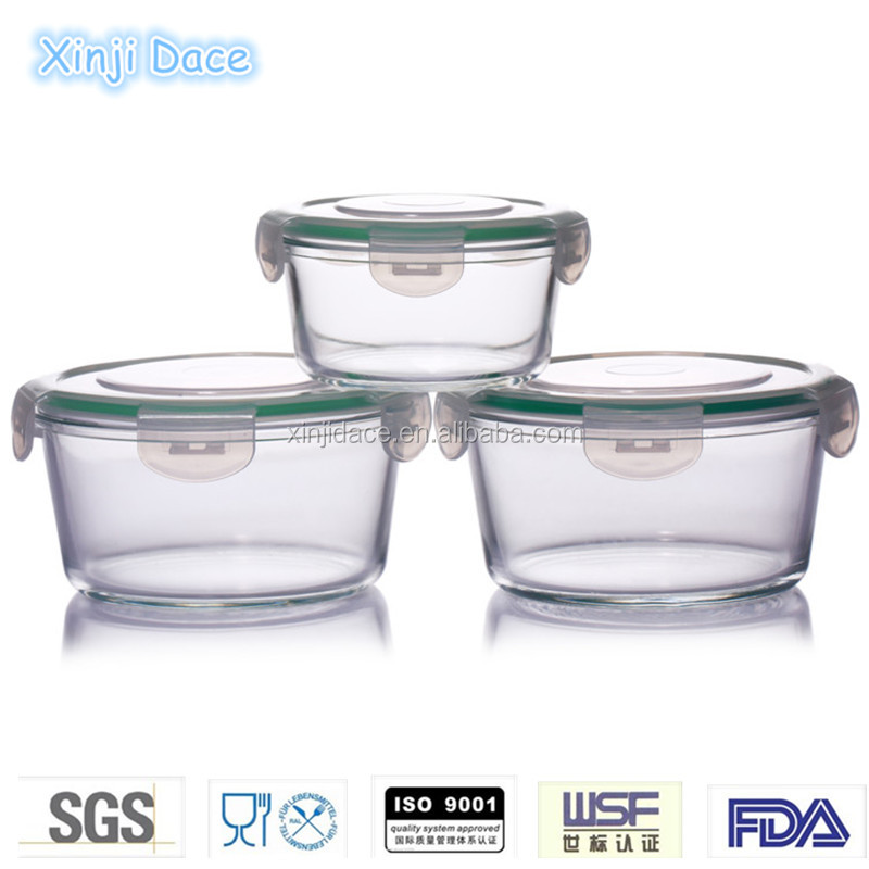 Microwavable glass recyclable insulated meal prep containers set
