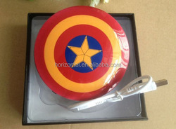 Factory Captain shield power bank , America Captain gifts power bank , UFO power bank china