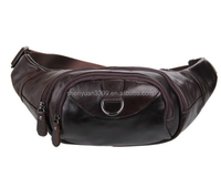 Vintage Leather Style Men's Travel Pouch / Waist Bag