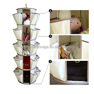 Save Space Hanging Shoes Clothes Storage Smart Carousel Organizer
