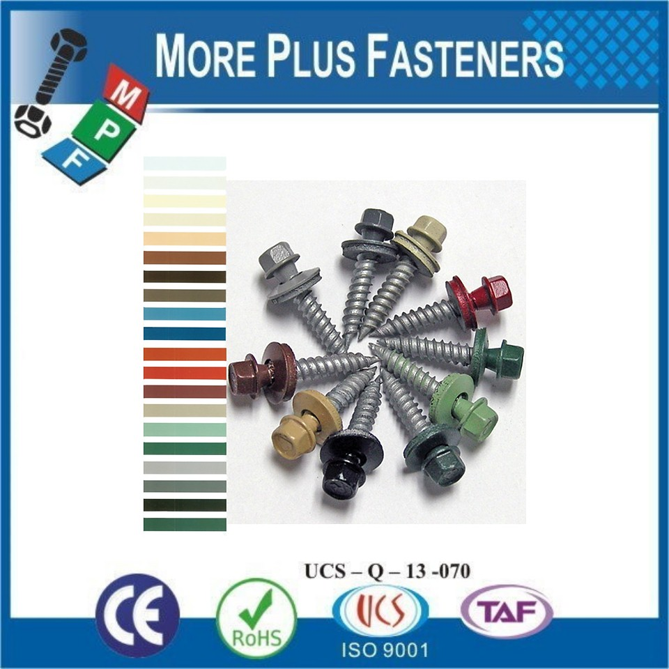 Made in Taiwan Head Painted Self Drilling Screws