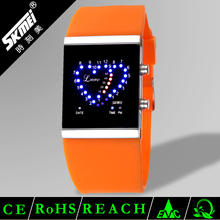 Good-looking couple watch silicone led flashing love watches