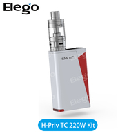 100% ORIGINAL Smok H-PRIV 220W TC Mod Fit for Micro TFV4 Tank Black Silver White Color Smok H-PRIV Box Mod