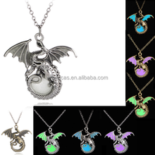 Punk style luminous flying dragon shapaed necklace, Game of Thrones necklace