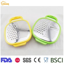 Stainless Steel Ginger Vegetable Grater With Plastic Storage Container And Lid