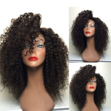 Machine made kinky curly lace blonde wigs hair wig for asian women with baby hair