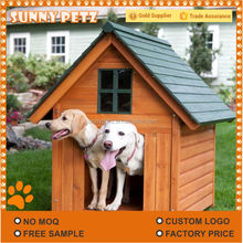 Solid Wooden Dog House Pet Kennel