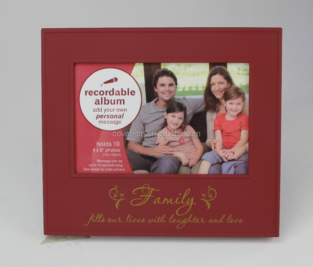 Voice recording funia photo/ picture frames with voice recorder for Christmas greetings