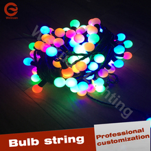 240V colorful LED bulb string for pincess wedding bulb string party wedding decoration lights holiday lighting