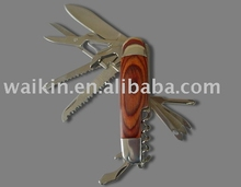 11 in 1 wooden handle multi function knife