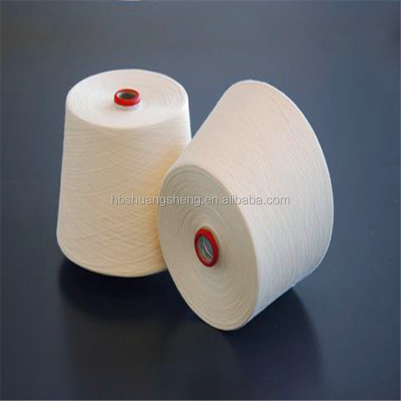 bleach white stock lot dyed yarn in 100 cotton cheap open end recycled cotton yarn for weaving of carpet