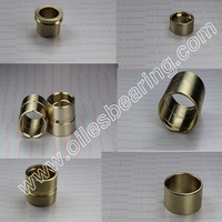 C95500 Precise Dimension superior quality Aluminium Bronze oiless sleeve double loop guide cast bearing,bushing