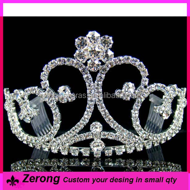 Wholesale flower rhinestone crystal beauty pageant crowns & tiaras