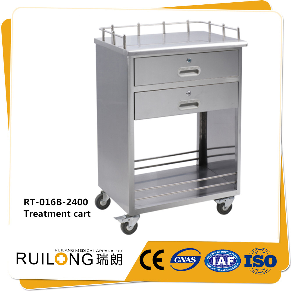 RT-016 emergency use stainless steel medical delivery cart