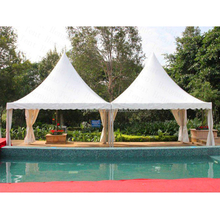 roof pvc 5x5m japanese high peak colorful combined wedding pagoda garden tent used for sale