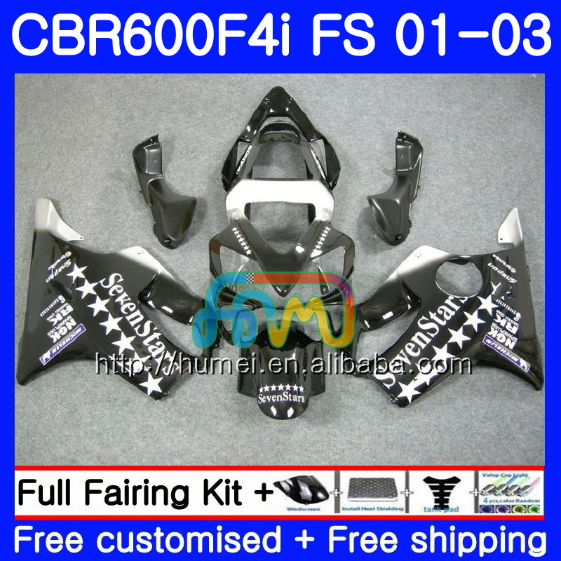 Body For HONDA CBR 600 F4i CBR600F4i 2001 2002 2003 Sevenstars 2HM102 CBR 600F4i 600 FS CBR600 F4i 01 02 03 Fairing top black
