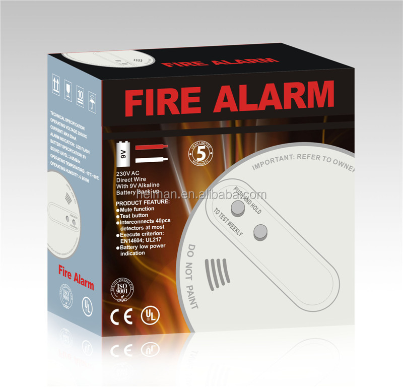 wireless interconnected smoke detector with 9v back up battery view wireless smoke detector. Black Bedroom Furniture Sets. Home Design Ideas