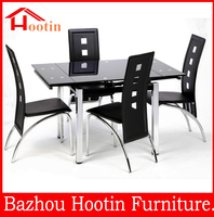 best selling product cheap extendable glass dining table