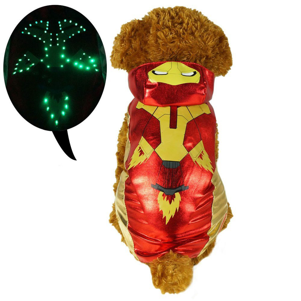 LED Iron Man Dog Clothes for Europe Wholesale Pet Supplies