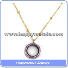 Fashion jewelry rose gold necklace chain in roll for locket finished in stainless steel(Chr002)