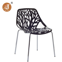 Art Decoration Sapling Shape Dining Chair ABS Plastic Stacking Chair