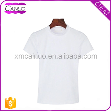 Wholesale Custom Blank White 100% Cotton Women T shirts