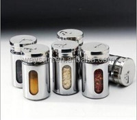 Rotating castoffs cover set stainless steel spice jar sauce pot condiment bottles toothpick tube Stainless steel Cruet