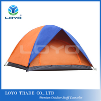 high quality 3-4 person single door double layer cheap tent for sale
