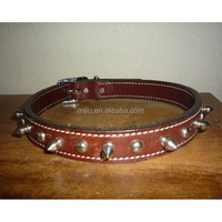 new 2014 strong leather studs dog training collar