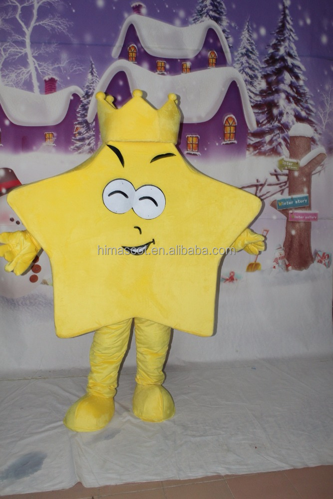 HI CE best selling custom made star shape mascot costume for adult