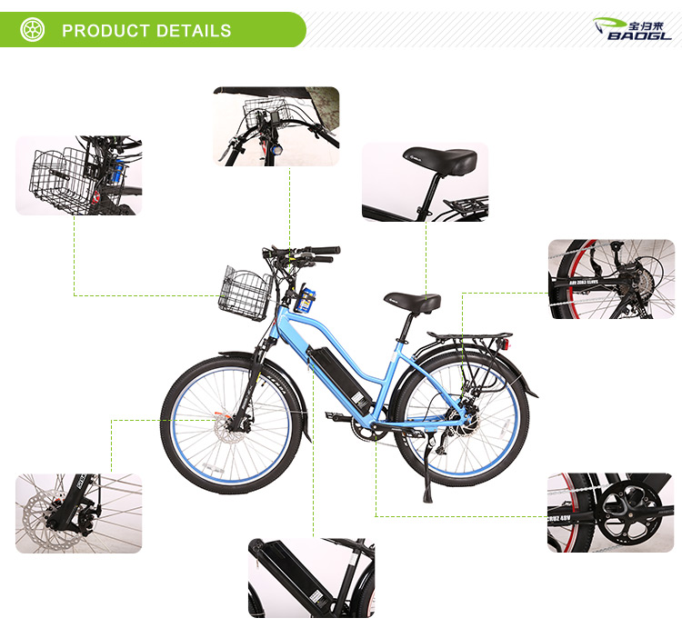 Factory Price energy saving green electric bike 2018 with hidden battery