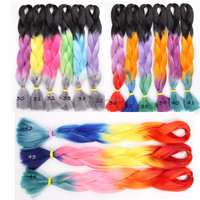 2016 New Arrival Two Colored Synthetic Braiding Hair High Quality
