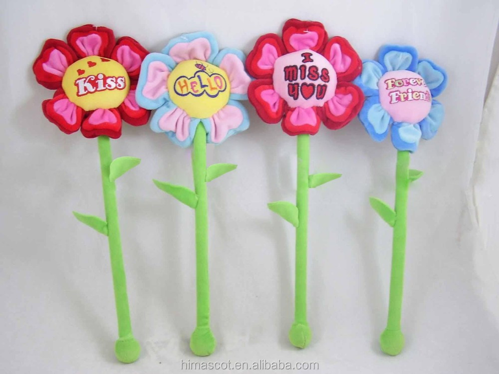 HI CE lovely flower plush toy for valentine's day, valentine's gifts soft toy flower