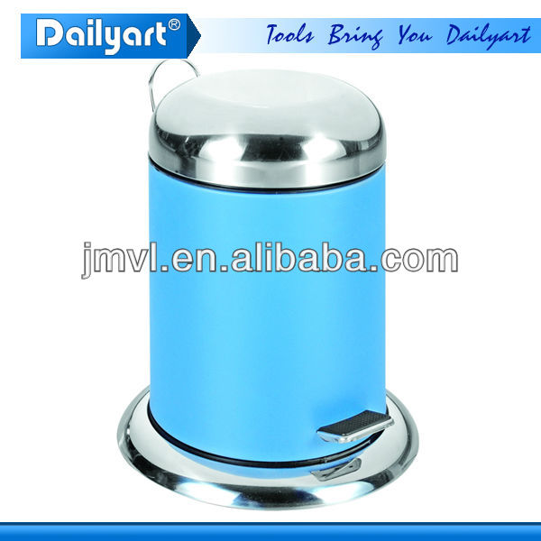 2015 foot pedal blue color coded garbage dust bin
