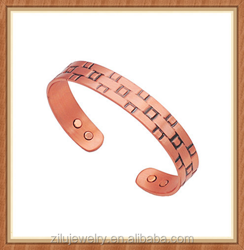 alibaba website new products 9mm pure solid copper bracelet for women arthritis ,anti Aches and Pains