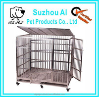 Silver Luxurious stainless Steel Dog Cage