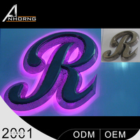High Quality Top-Grade Raw Material Custom-Made Led Light Box Brightest 3D Stainless Steel Letter Sign