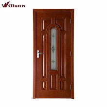 Retail Price Solid Wood Doors For New Zealand With Window Design