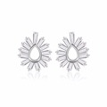 New Design flower Style Statement Shape Wholesale 925 Silver Earrings