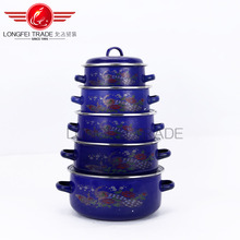 china hot sale high quality blue enamel casserole hot pot wholesale