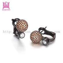 fantasy crystal basketball stud black earrings for sale