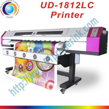 Galaxy Eco <strong>solvent</strong> vinyl 6 feet flex banner printing machine Galaxy UD 1812LC printer with 2pcs Dx5 printhead