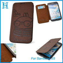 Cute Rabbit Flip Cover Leather phone cases for samsung galaxy note 2
