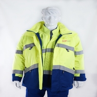 Hi vis flame resistant and antistatic arc flash protective clothing EN 61482