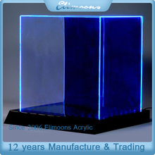Clear acrylic display boxs with led light/Custom Acrylic LED Display Case