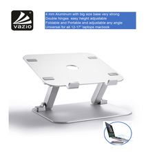 Metal aluminium vertical foldable height adjustable portable flexible 17 inch laptop stand