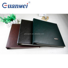 GuanMei PU Pure Color Cover Post Bound Photo Album With Self Adhesive 20 Sheets sticker album