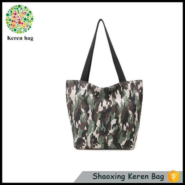 new fashion Korea style woman canvas bag brief camouflage tote bag