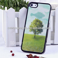 Hot selling season tree 3d case for iphone 5c case with 3d flash image